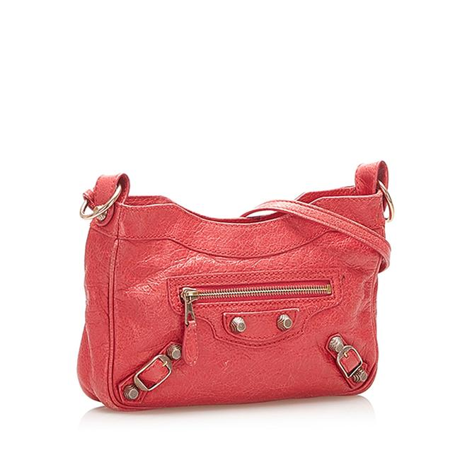 Item - Red Lambskin Leather Cross Body Bag