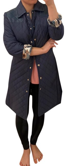 Item - Navy Quilted Jacket. S Coat Size 2 (XS)