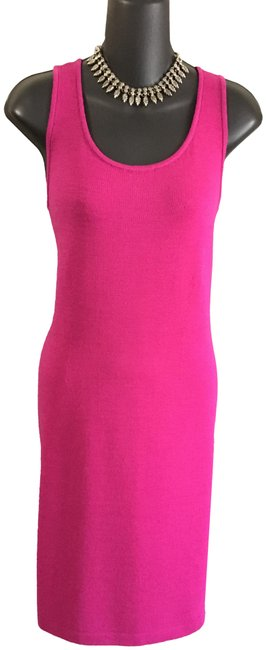 Item - Magenta Pink Knit Mid-length Work/Office Dress Size 4 (S)