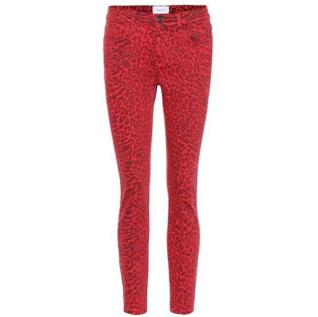 Item - Red Stiletto Warped Species Animal Print Leopard Skinny Jeans Size 26 (2, XS)