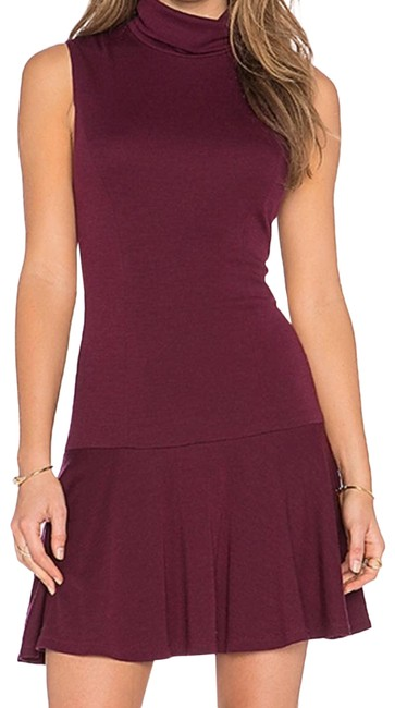 Item - Red And Maroon Turtle Short Casual Dress Size 4 (S)