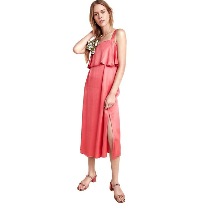 Item - Coral Shelley Midi Extra Large Mid-length Night Out Dress Size 16 (XL, Plus 0x)