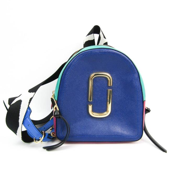 Item - Shot M0013992 Women's Black / Green / Pink / Royal Blue Leather Backpack