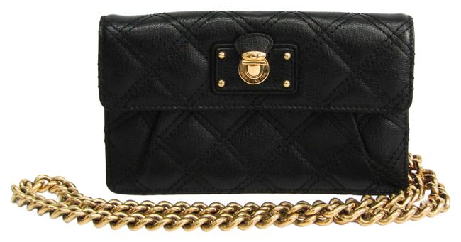Item - Black Women's Leather Chain/Shoulder Wallet