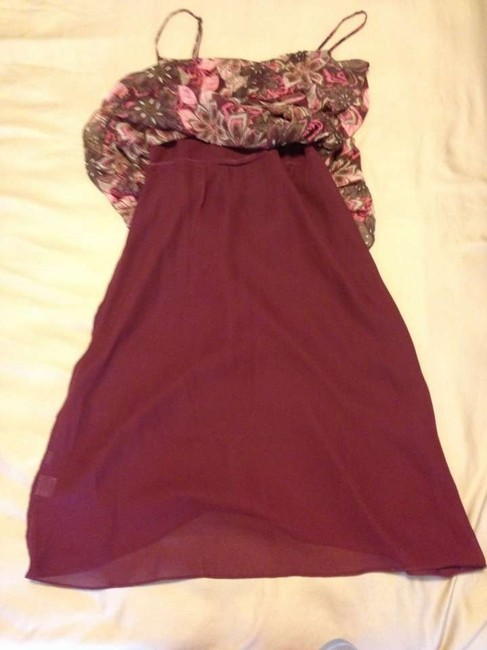 Ann Taylor LOFT short dress Multi Summer Red Ruffle Boho Sweetheart on Tradesy