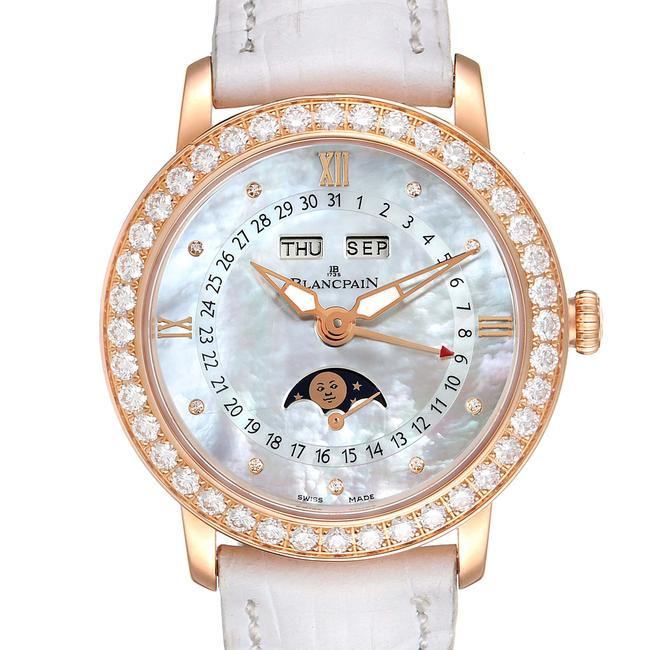 Item - Mother Of Pearl Quantieme Complet 18k Rose Gold Diamond 3663-2954-55b Watch