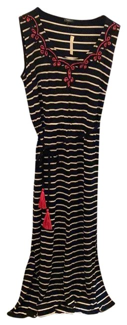 Item - Black White Pink Sleeveless Long Casual Maxi Dress Size 20 (Plus 1x)