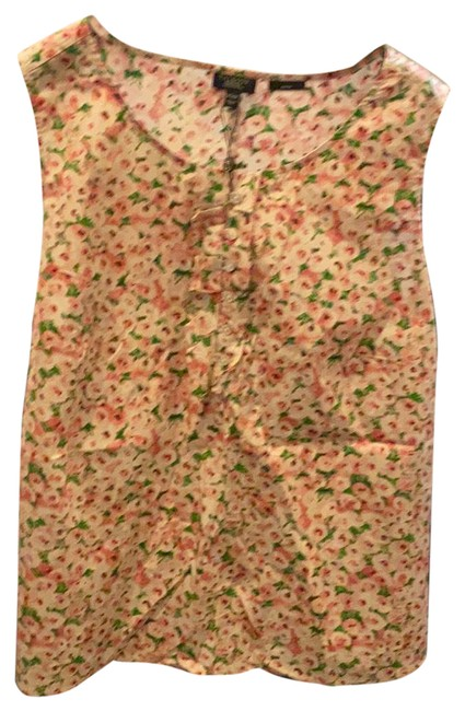 Item - Pink White Green Sleeveless 20w Blouse Size 20 (Plus 1x)