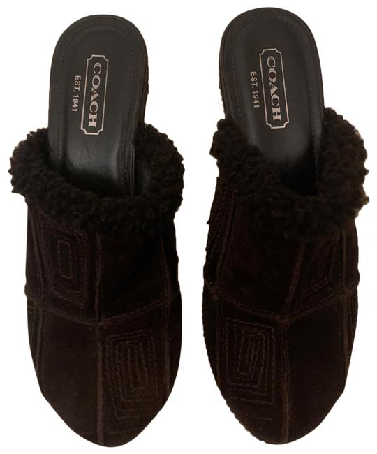 Item - Brown Suede and Fur Mules/Slides Size US 7 Regular (M, B)