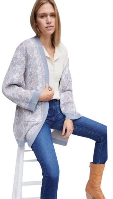Item - Gray Serpentine Duster Sweater Cardigan Size OS (one size)