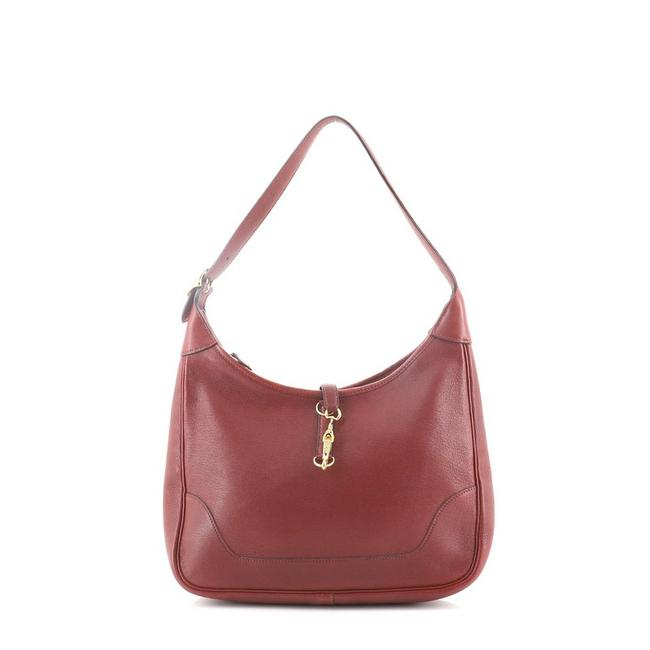 Item - Trim Ii Chevre De Coromandel 31 Red Leather Hobo Bag