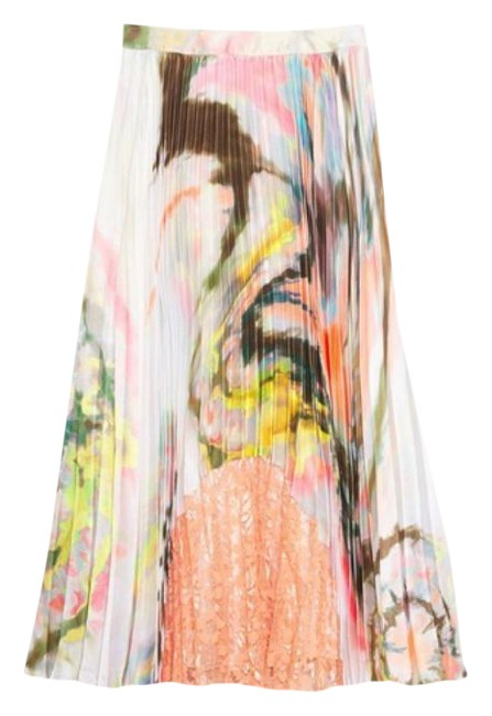 Item - White Pink Joana Marble-dyed Pleat S Skirt Size 4 (S, 27)