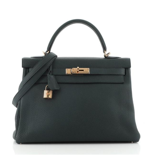 Item - Kelly Handbag Togo with Gold Hardware 32 Vert Cypress (Green) Leather Tote
