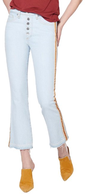 Item - Light Wash Carolyn Baby Stripe Boot Cut Jeans Size 0 (XS, 25)