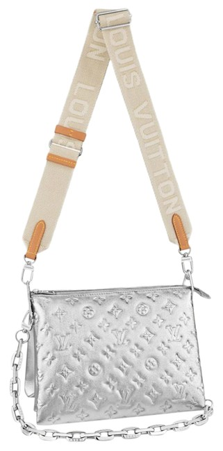 Item - Coussin Pm Silver Leather Cross Body Bag