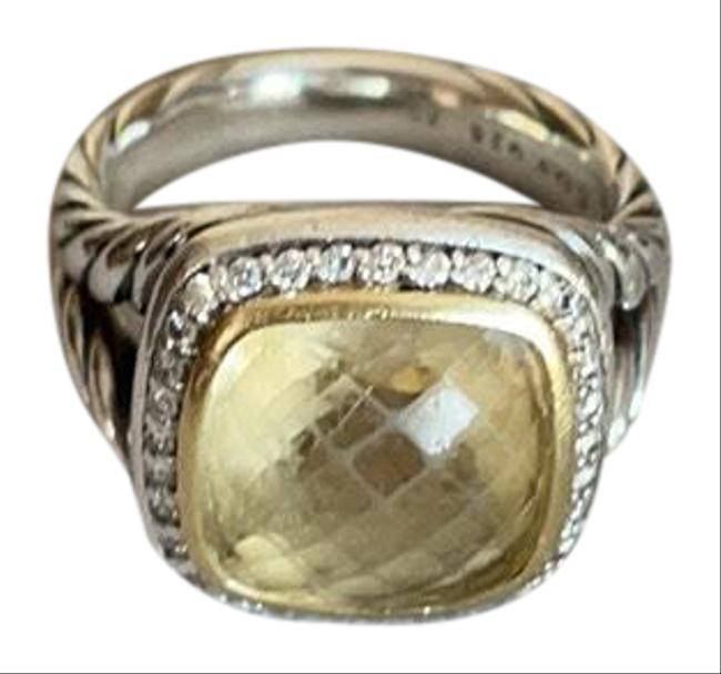 Item - Champagne Citrine Albion with Diamonds and Gold Ring