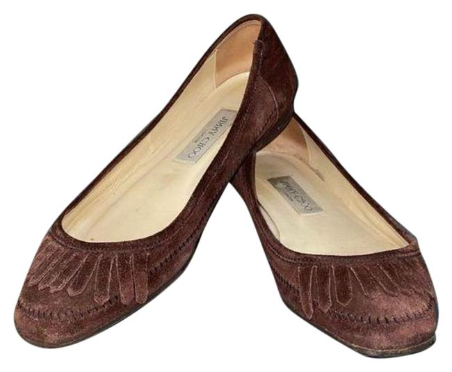 Item - Brown Suede Fringe Flats Size EU 39.5 (Approx. US 9.5) Regular (M, B)