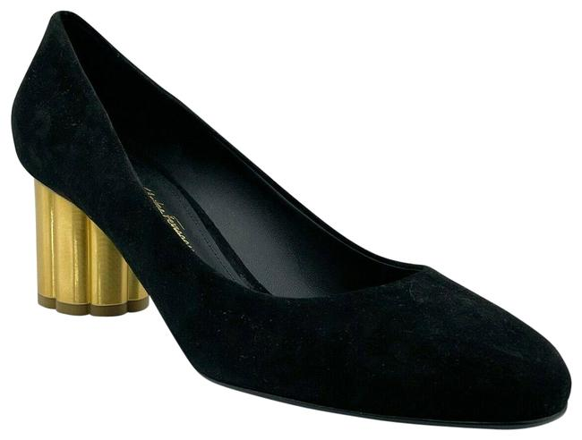 Item - Black Lucca 55 Women's Suede with Gold Heel C 671016 Pumps Size US 7 Wide (C, D)