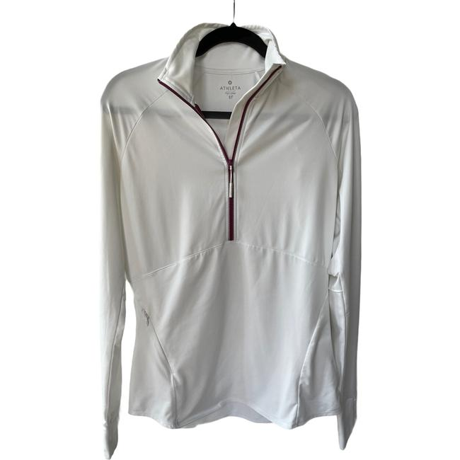 Item - White Pullover Running Sweater Activewear Size 4 (S)