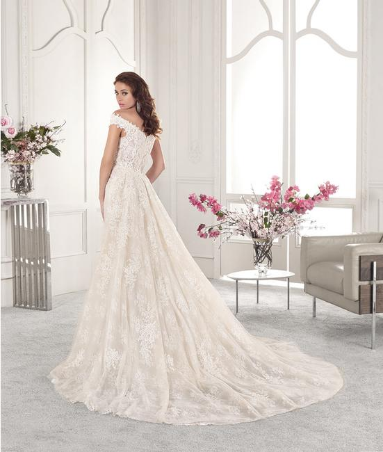 Item - Ivory/Nude/Sheer Lace 858 (Only The Detachable Train) Feminine Wedding Dress Size 14 (L)
