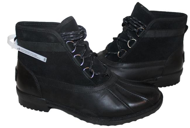 Item - Black Greda Duck Water Resistant Leather Boots/Booties Size US 9.5 Regular (M, B)