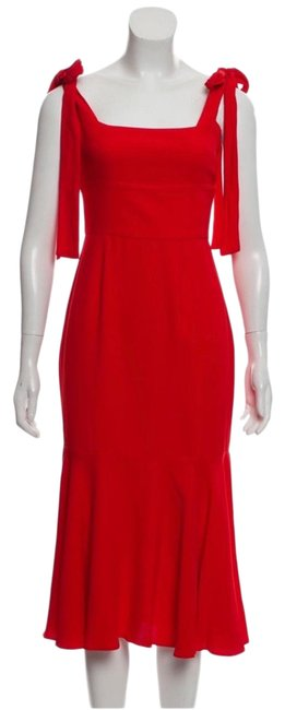 Item - Red Mid-length Cocktail Dress Size 4 (S)