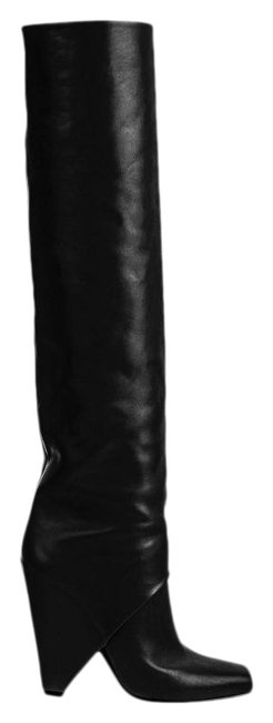 Item - Black Smooth Leather Rea Boots/Booties Size EU 39.5 (Approx. US 9.5) Regular (M, B)