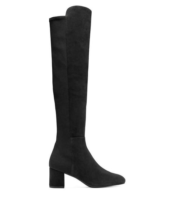 Item - Black W Suede Heel Knee High W/Elastic Eu 40.5/Us B Boots/Booties Size US 10 Regular (M, B)