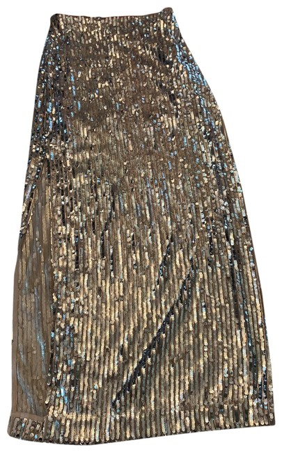 Item - Silver Sequins Skirt Size 4 (S, 27)