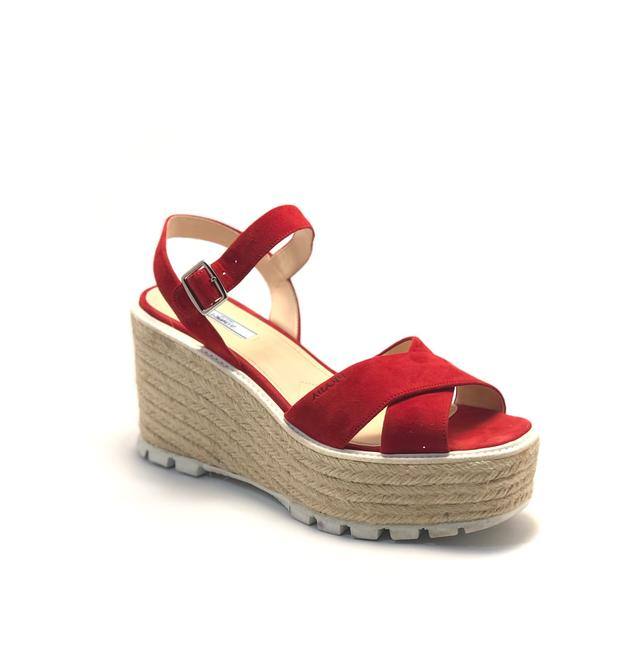 Item - Red Cross - Strap Platform Wedges Sandals Size EU 39.5 (Approx. US 9.5) Regular (M, B)