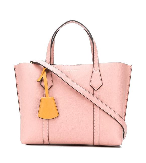 Item - Perry Small Triple Compartment Pink Moon Leather Tote