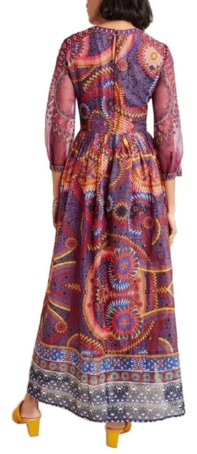 Item - Red Brown Embroidered New Long Casual Maxi Dress Size 2 (XS)