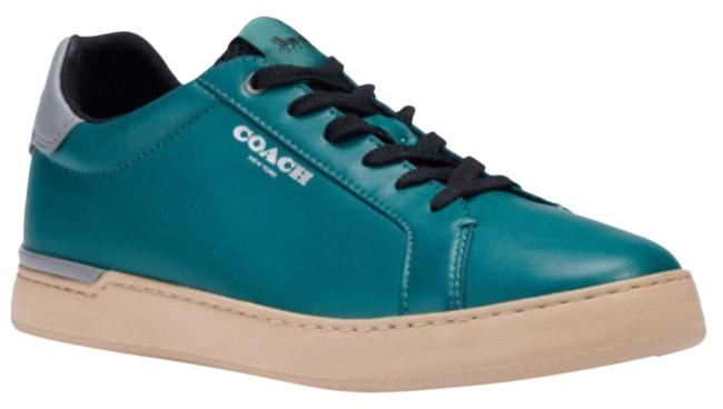 Item - Green New Clip Low Top Leather For Women Sneakers Size US 7 Regular (M, B)