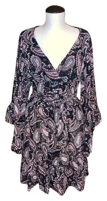 Item - Brown Paisley Ruffle Babydoll Short Casual Dress Size 6 (S)