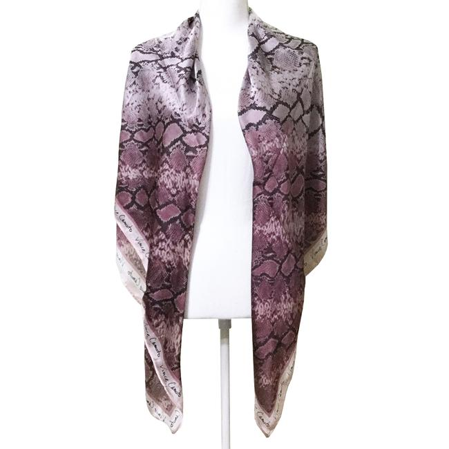 Item - Orchid Purple Snake Print Signature Oversized Python Satin Scarf/Wrap