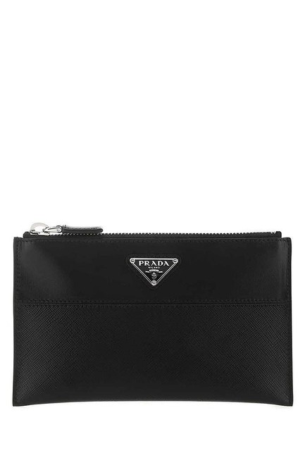 Item - Black Triangle Logo Pouch Cosmetic Bag