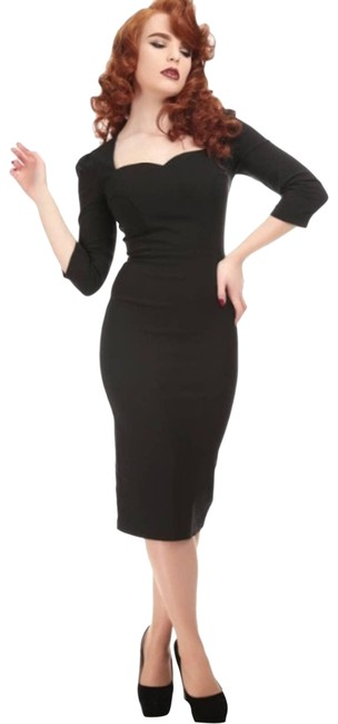 Item - Black Vanessa Pencil Short Casual Dress Size 12 (L)
