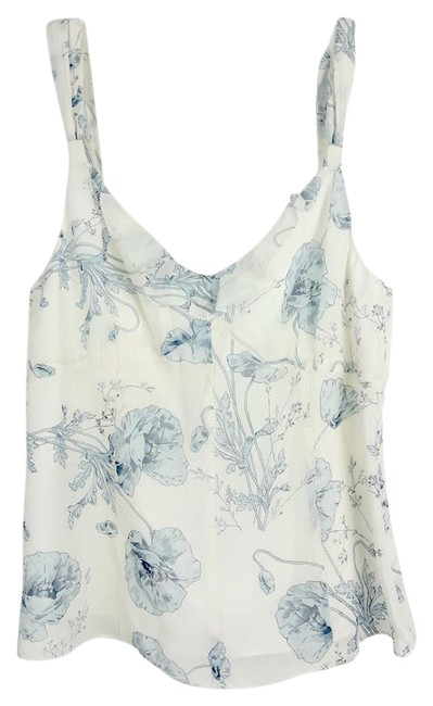 Item - Blue Floral Cami Sleeveless Small Blouse Size 6 (S)