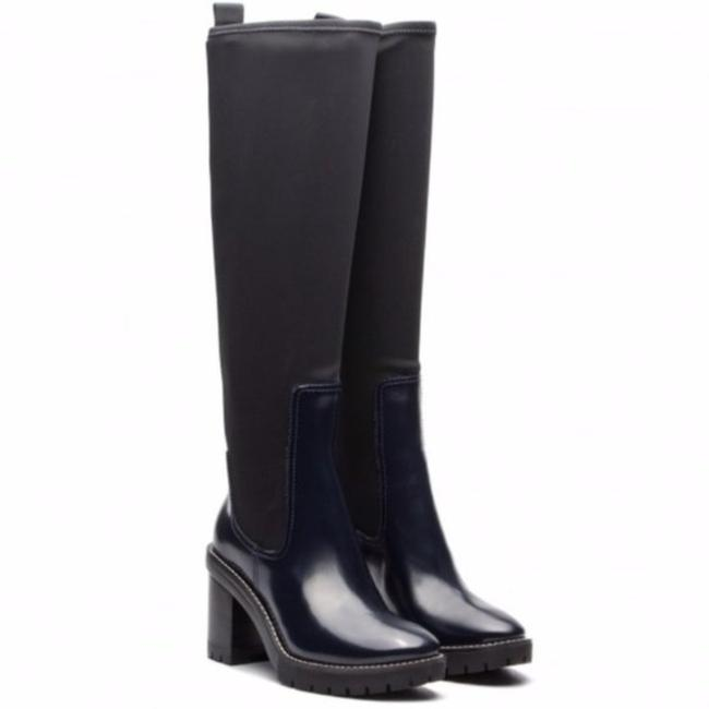Item - Navy Preston 95mm Lug Sole Knee High Boots/Booties Size US 7 Regular (M, B)