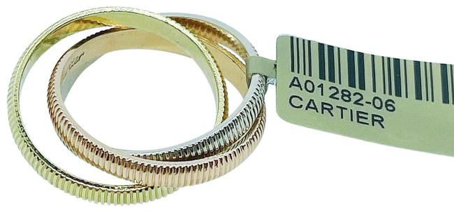 Item - Tri-gold Like New Trinity Gold - Ribbed Rose White Yellow Ring
