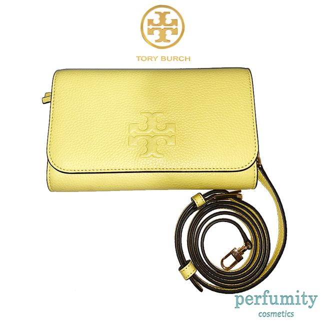 Item - Thea Flat Wallet Yellow Leather Cross Body Bag