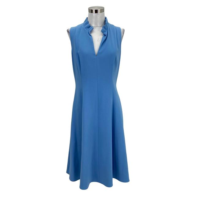 Item - Baby Blue N675 Designer Large A-line Sleeveless Mid-length Short Casual Dress Size 14 (L)
