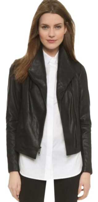 Item - Black Scuba Asymmetrical Jacket Size 2 (XS)