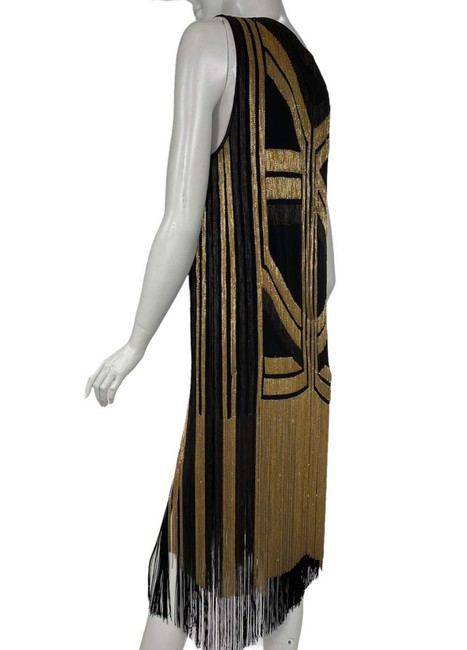 Gucci Black Gold Rare Fringed Chain-embellished As Seen On Taylor Swif Long Night Out Dress Size 4 (S) Gucci Black Gold Rare Fringed Chain-embellished As Seen On Taylor Swif Long Night Out Dress Size 4 (S) Image 3
