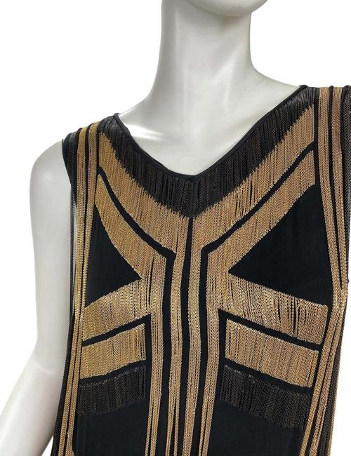 Gucci Black Gold Rare Fringed Chain-embellished As Seen On Taylor Swif Long Night Out Dress Size 4 (S) Gucci Black Gold Rare Fringed Chain-embellished As Seen On Taylor Swif Long Night Out Dress Size 4 (S) Image 5