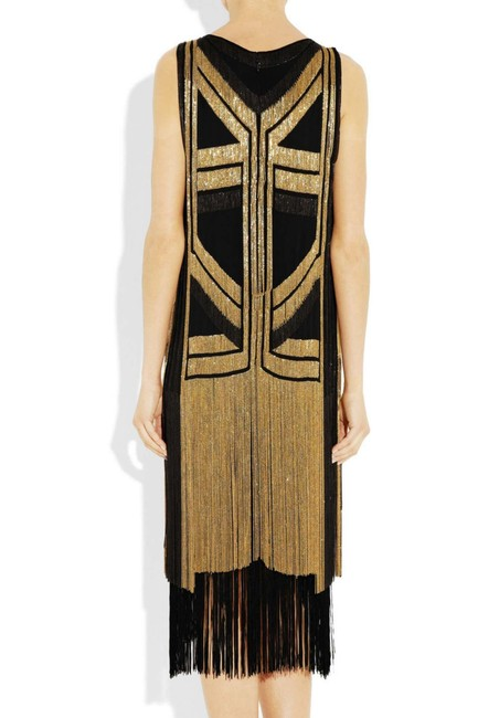 Gucci Black Gold Rare Fringed Chain-embellished As Seen On Taylor Swif Long Night Out Dress Size 4 (S) Gucci Black Gold Rare Fringed Chain-embellished As Seen On Taylor Swif Long Night Out Dress Size 4 (S) Image 8
