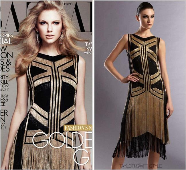 Gucci Black Gold Rare Fringed Chain-embellished As Seen On Taylor Swif Long Night Out Dress Size 4 (S) Gucci Black Gold Rare Fringed Chain-embellished As Seen On Taylor Swif Long Night Out Dress Size 4 (S) Image 9