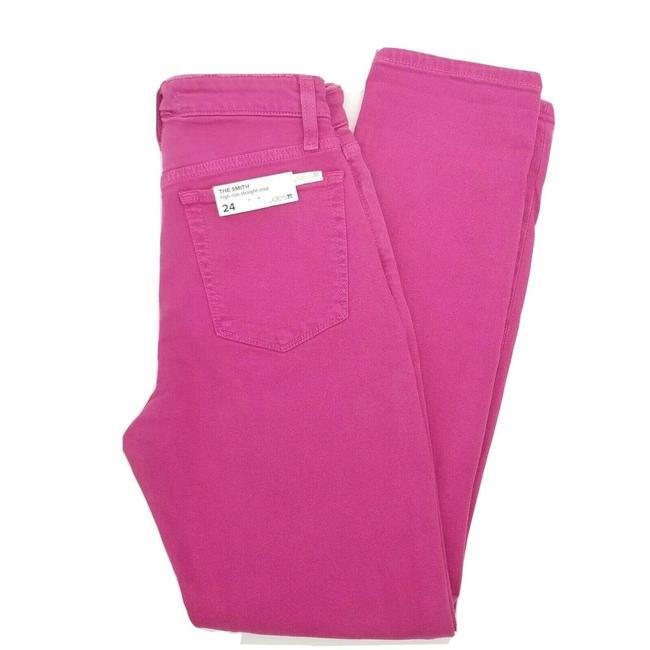 Item - Pink The Smith High Rise Denim Crop Straight Leg Jeans Size 24 (0, XS)