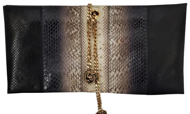 Item - Black / Multicolor Snakeskin Leather Clutch