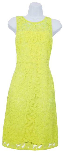 Item - Yellow Collection Lace Crochet Sheath Short Cocktail Dress Size 4 (S)